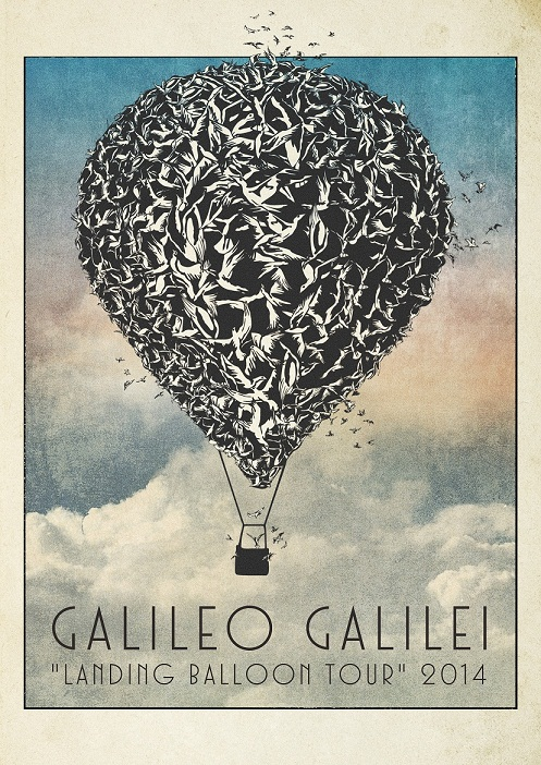 "「Galileo Galilei ""landing balloon tour"" 2014」フライヤー"