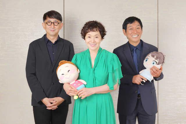 (左から)渡辺歩監督、大竹しのぶ、明石家さんま