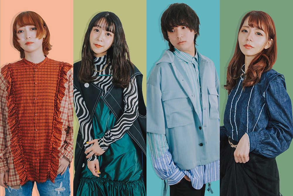 L→R yuri(Gu)、chifumi(Vo&Key)、shun(Dr)、chinatsu(Ba)