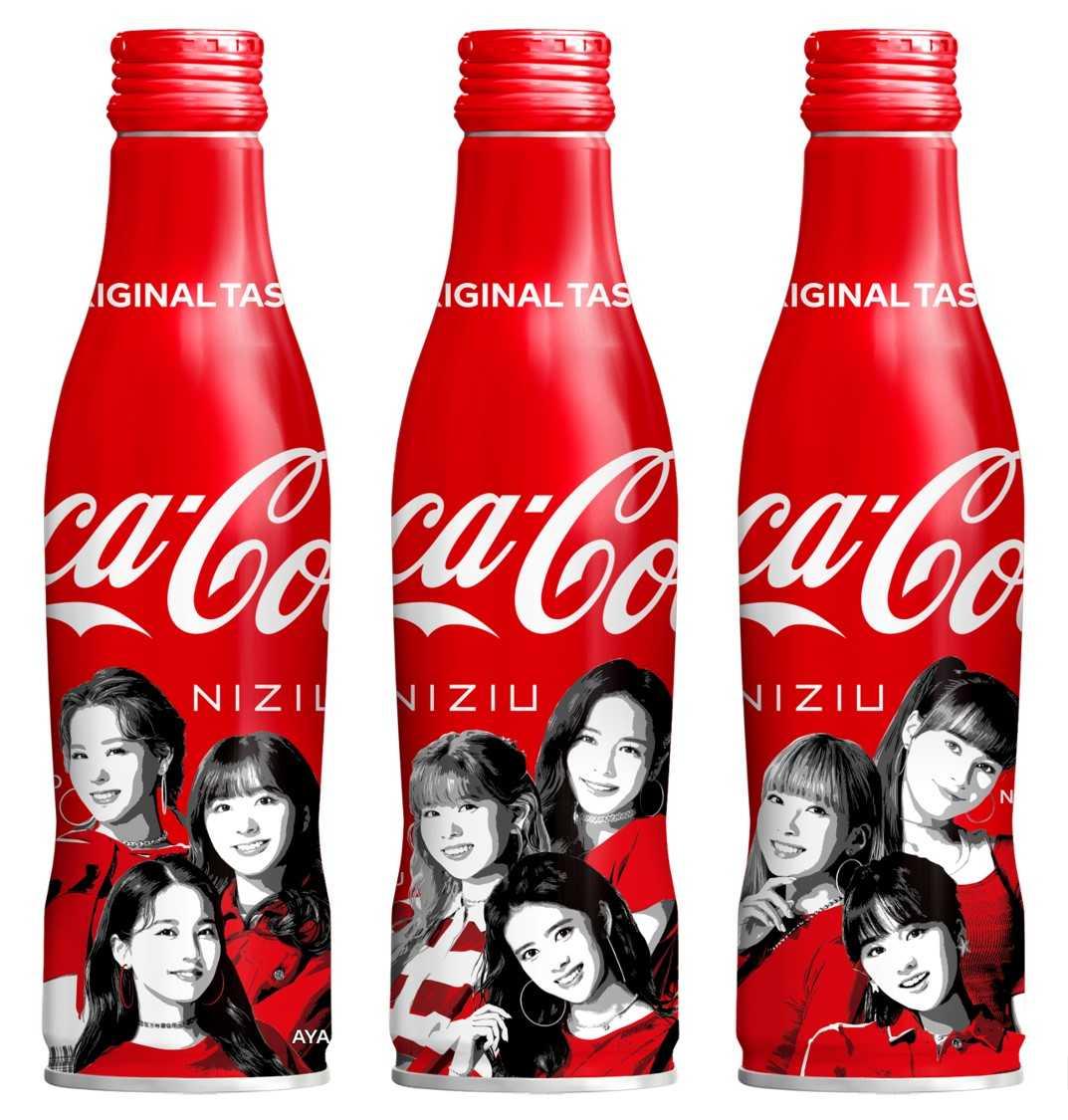 """NiziUのオリジナルデザインボトルが登場!!""""「コカ・コーラ」スリムボトル NiziUデザイン""""が8月2日(月)より全国で発売開始!!"""