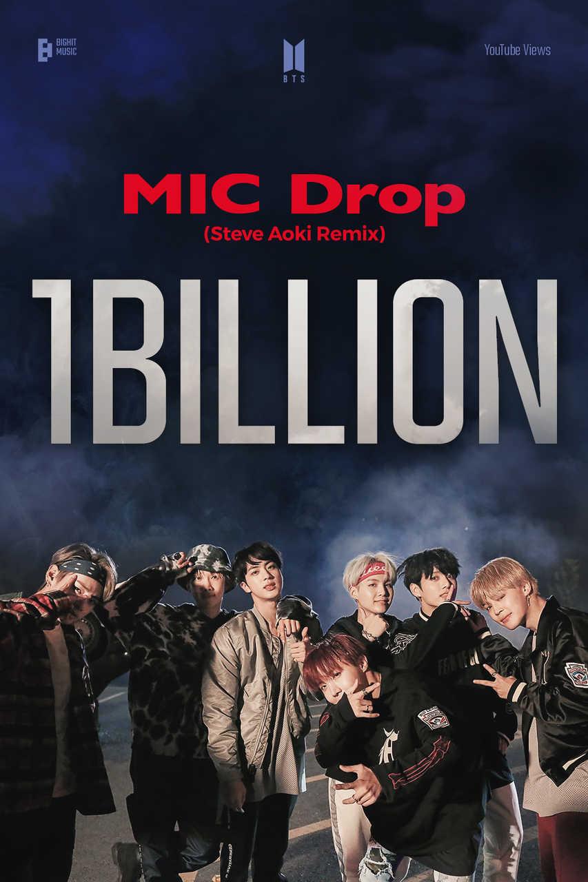 BTS 「MIC Drop」リミックスMV、10億再生突破! 通算4個目の10億ビューMV保有!