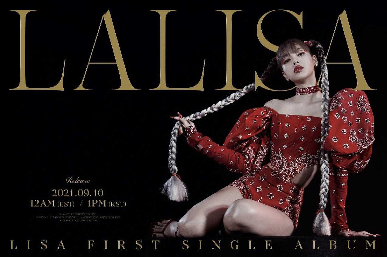 BLACKPINKのLISA、9月10日(金) 初のソロデビューシングル発売決定!!