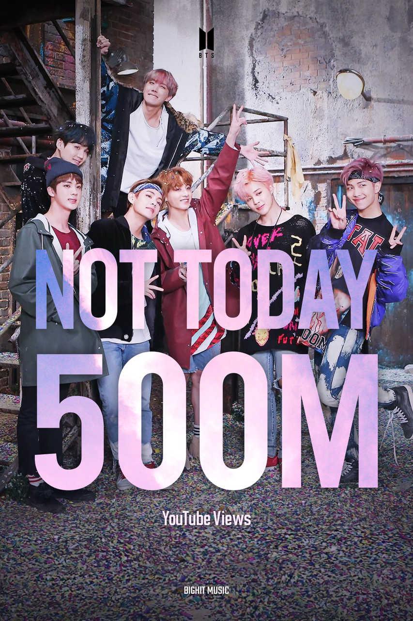 BTSの「Not Today」MVが5億再生突破! 通算12作品目の5億再生MV!