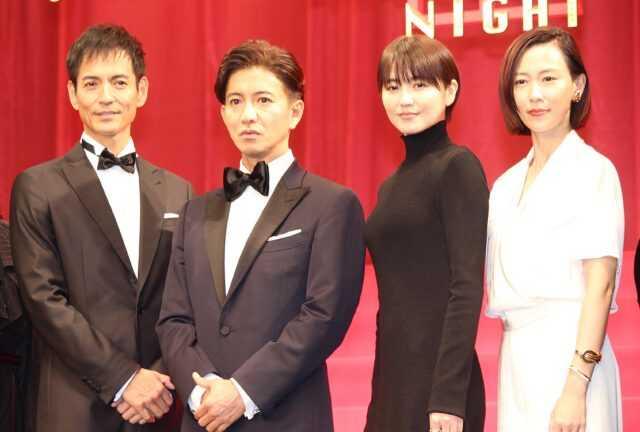 (左から)沢村一樹、木村拓哉、長澤まさみ、木村佳乃  (C)エンタメOVO