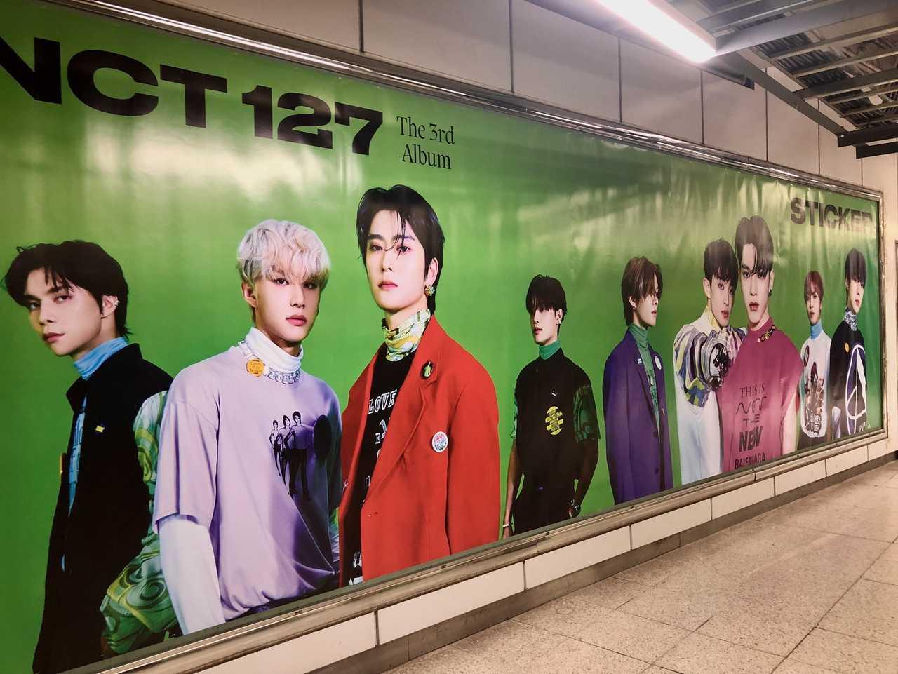 NCT 127が渋谷に上陸!The 3rd Album『Sticker』特大ポスター掲出!