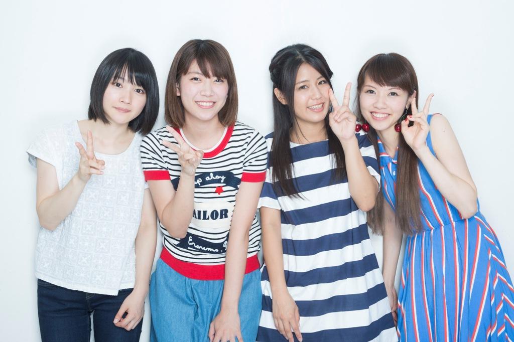 新山詩織、山崎あおい、Suzu、Saku